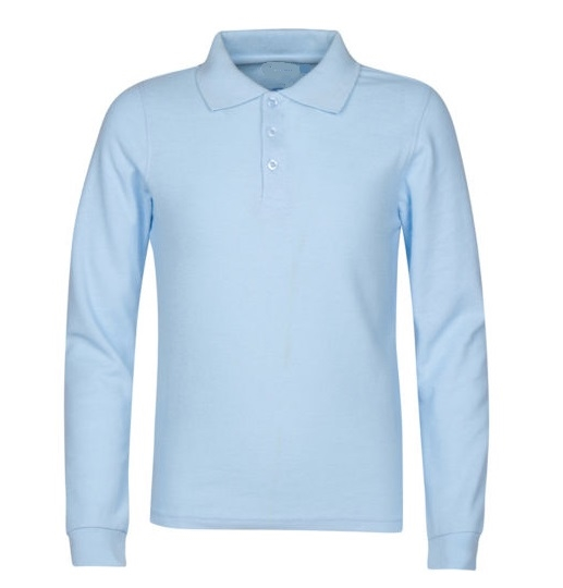 Wholesale Adult Size Long Sleeve Pique Polo Shirt School