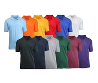 Wholesale Adult Size Short Sleeve Pique Polo Shirt School Uniform in Bulk. High School Uniform polo Shirts