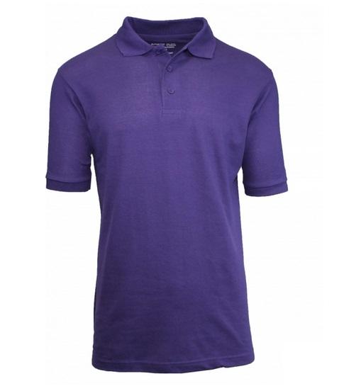 Wholesale adult size short sleeve pique polo shirt school for Purple polo uniform shirts