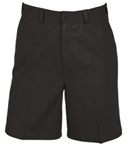 wholesale big mens Flat Front school shorts Black