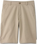 wholesale big mens Flat Front school shorts khaki
