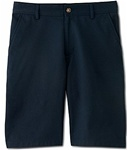 wholesale big mens Flat Front school shorts Navy Blue