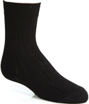 Wholesale Boys Crew Socks in Black - 3 Pack