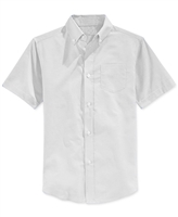 Boys Short Sleeve Oxford Shirt School Uniform in White