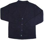 Wholesale School Uniform Kid's V-Neck Cardigan in Navy Blue