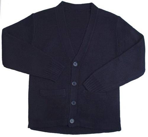Wholesale School Uniform Kid's V-Neck Cardigan in Navy Blue