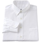 Wholesale Mens Long Sleeve Oxford Shirt in White