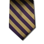 wholesale school uniform neck tie purple gold