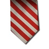 wholesale school uniform neck tie red silver