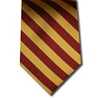 wholesale school uniform neck tie wine and gold
