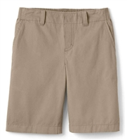 Wholesale Toddler School Uniform Flat Front Shorts in Khaki