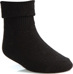 Wholesale Children's Triple Roll Socks in Black, Uniform Socks in Black
