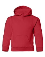 Wholesale Boys Fleece Pullover Hooded Sweatshirt in Red