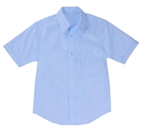 Boys Short Sleeve Dress Shirt School Uniform in Blue