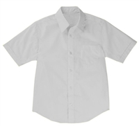 Boys Short Sleeve Dress Shirt School Uniform in White