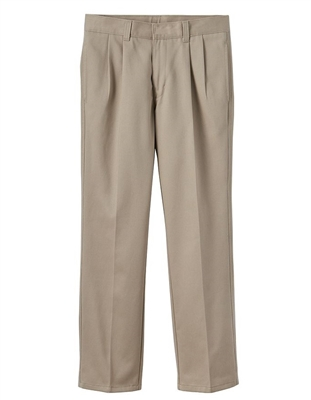 school uniform supplier Wholesale Schoolwear offers boys pleated school pants in khaki