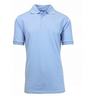 Wholesale Boys Short Sleeve School Uniform Polo Shirt Light Blue