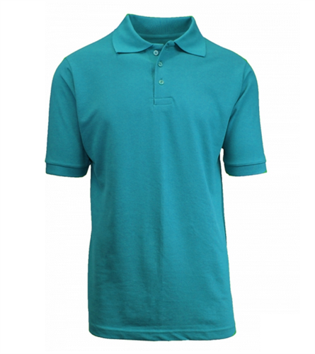 Wholesale boys short sleeve school uniform polo shirt teal for Where to buy polo shirts cheap