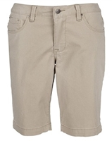 Wholesale Girl's School Uniform Bermuda Length Shorts in Khaki