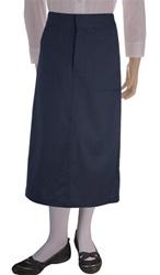 Wholesale Girl's School Uniform Long Skirt in Navy Blue