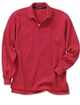 Wholesale Girls Long Sleeve School Uniform Polo Shirt Red