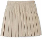 Wholesale Girl's School Uniform Pleated Skirt in Khaki