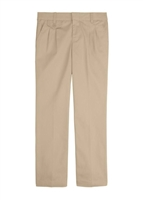 Wholesale Girl's School Uniform Flat Front Pants in Khaki