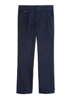 Wholesale Girl's School Uniform Flat Front Pants in navy