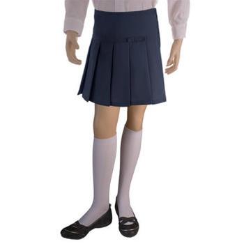 wholesale girls school uniform scooter skirt in navy blue