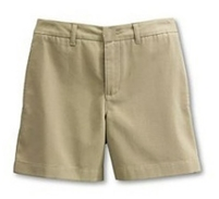 Wholesale Girl's School Uniform  Shorts in Khaki