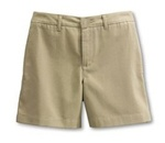 Wholesale Girl's School Uniform Shorts in Khaki by Case
