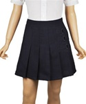Wholesale Girl's School Uniform Skort in Navy Blue