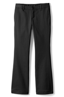 Wholesale Junior Girl's Stretch Flare Bottom School Uniform Pants in Black