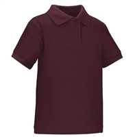 Wholesale Toddler Short Sleeve School Uniform Polo Shirt Burgundy