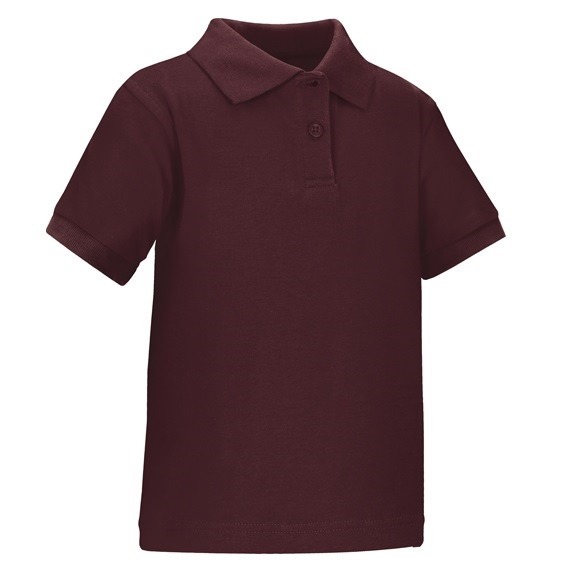 Wholesale toddler short sleeve school uniform polo shirt Burgundy polo shirt boys