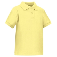 Wholesale Toddler Short Sleeve School Uniform Polo Shirt Yellow