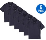 Wholesale Youth Short Sleeve School Uniform Polo Shirt Navy 6 Pack