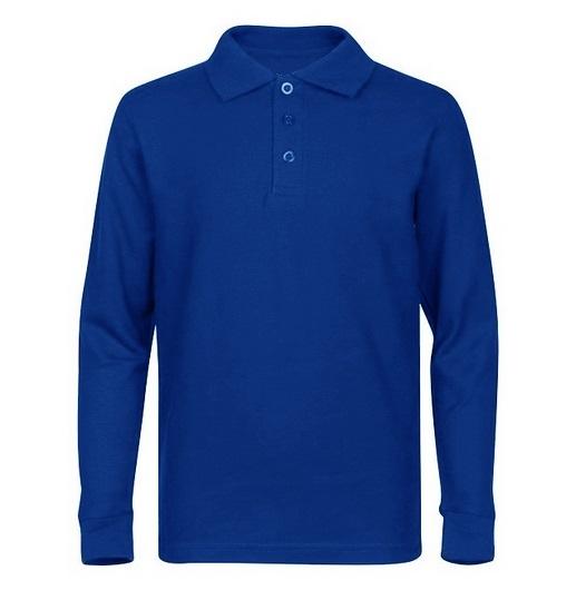 eebe88e15 Wholesale Adult Size long Sleeve Pique Polo Shirt School Uniform in ...