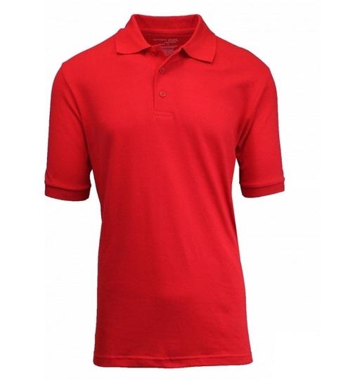 6329a156 Wholesale Adult Size Short Sleeve Pique Polo Shirt School Uniform in Red. High  School Uniform polo Shirts