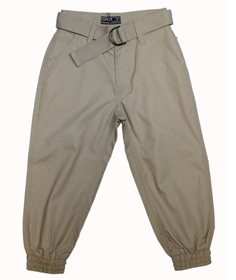 Wholesale Boys Belted Ripstop Jogger Pants Khaki