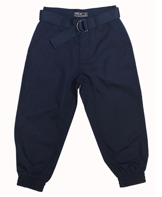 Wholesale Boys Belted Ripstop Jogger Pants Navy