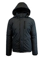 Wholesale Men's Tech Hooded Jacket by Spire in Black