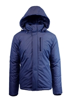 Wholesale Men's Tech Hooded Jacket by Spire in Blue