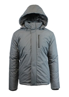 Wholesale Men's Tech Hooded Jacket by Spire in Grey