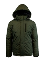 Wholesale Men's Tech Hooded Jacket by Spire in Olive
