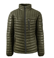 Wholesale Men's Quilted Bubble Jacket by Spire in Olive Green