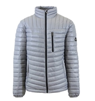 Wholesale Men's Quilted Bubble Jacket by Spire in Silver Grey