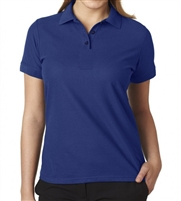 school uniform wholesale Junior Short Sleeve 5 Button Pique Polo Shirt  in Navy Blue