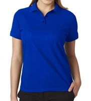wholesale school uniform Junior Short Sleeve 5 Button Pique Polo Shirt  in Royal Blue