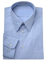 Wholesale Mens Long Sleeve Dress Shirt in Light Blue